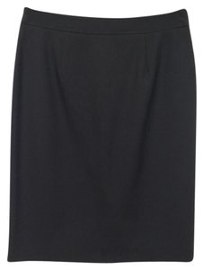 Brooks Brothers Year-round Business Wool Skirt Black