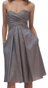 Wtoo short dress Champagne Bridesmaid Strapless on Tradesy