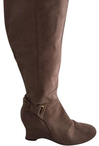 Nine West Suede Chunky Heel Dress Tan Boots