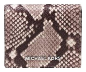 Michael Kors Michael kors Jet Set Travel Embossed-Leather Card Holder Wallet NWT