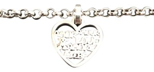 TOUS TOUS Love Pendant with Silver Chain Bracelet