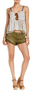 Free People Shorts Army Green