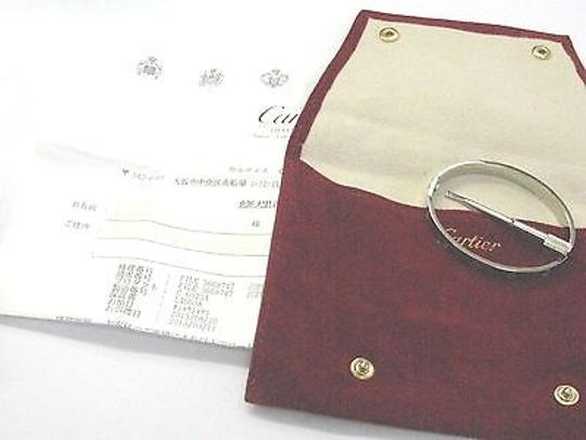 Cartier Cartier,18kt,Love,Bracelet,White,Gold,Size,17,L45638,Complete,Package