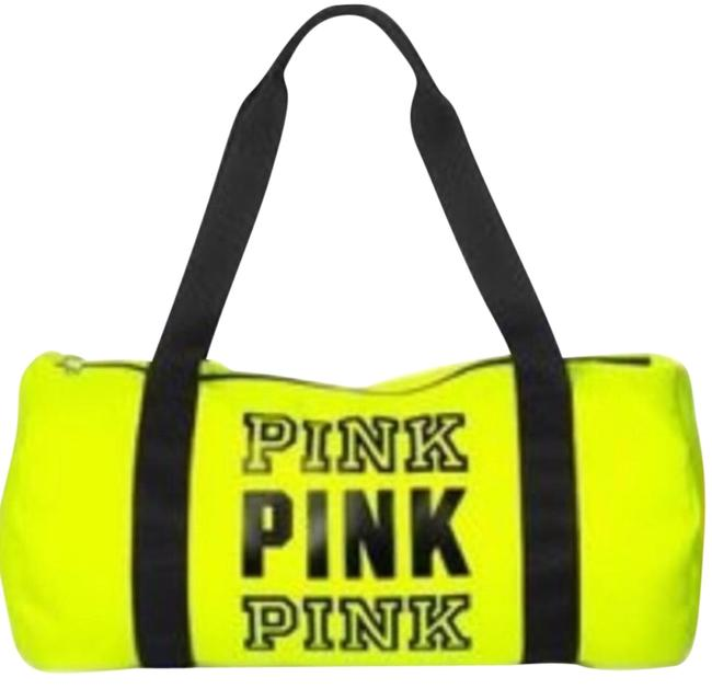 Item - Duffle Love Pink Gym Size Yellow Black Silver Weekend/Travel Bag