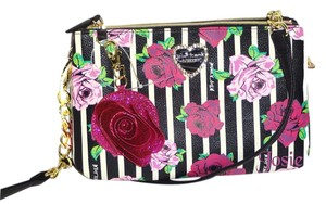 Betsey Johnson Black Bone Cross Body Bag