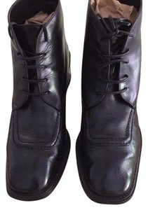 Joan & David Low Heel Chunky Black Boots