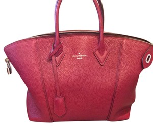Louis Vuitton Lockit Satchel in Red