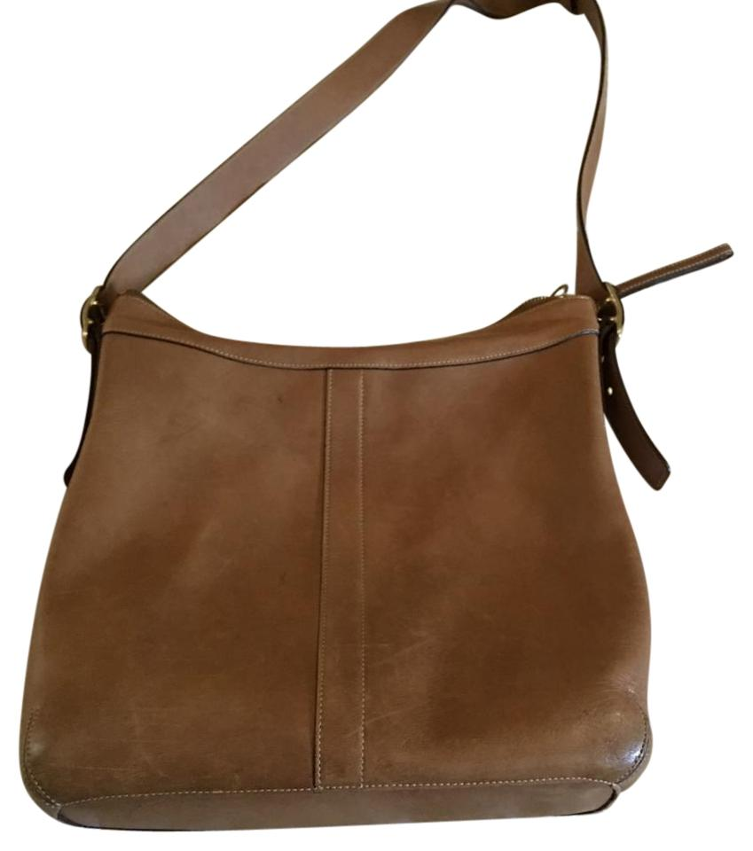 2836dce544 Coach Brown Leather Shoulder Bag - Tradesy