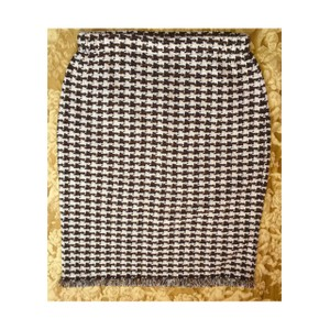 St. John Tweed Skirt Brown and Beige