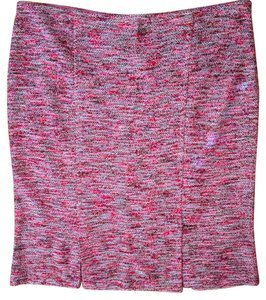 St. John Tweed Like New Magenta Red Skirt Magenta/Pink
