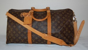 Louis Vuitton Keepall 50 Monogram Canvas Keepall Brown Travel Bag