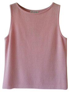 St. John Sleeveless Pink Knit Knits Top Blush Pink
