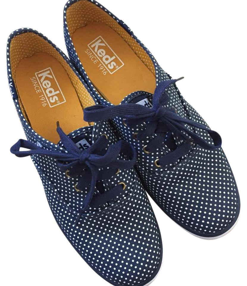 d0bcc385a0f Keds Sneakers Polka Dot Classic Canvas Navy blue Athletic Image 0 ...