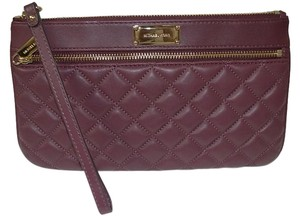 Michael Kors Michael Kors Sophie Quilt Large Zip Clutch Leather