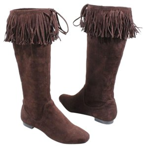 Calvin Klein Suede Tassels Fall Brown Boots