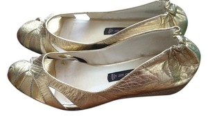 Steven by Steve Madden Wedge Espadrille Metallic Gold Wedges