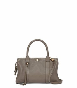 Tory Burch Leather Satchel in Porcini