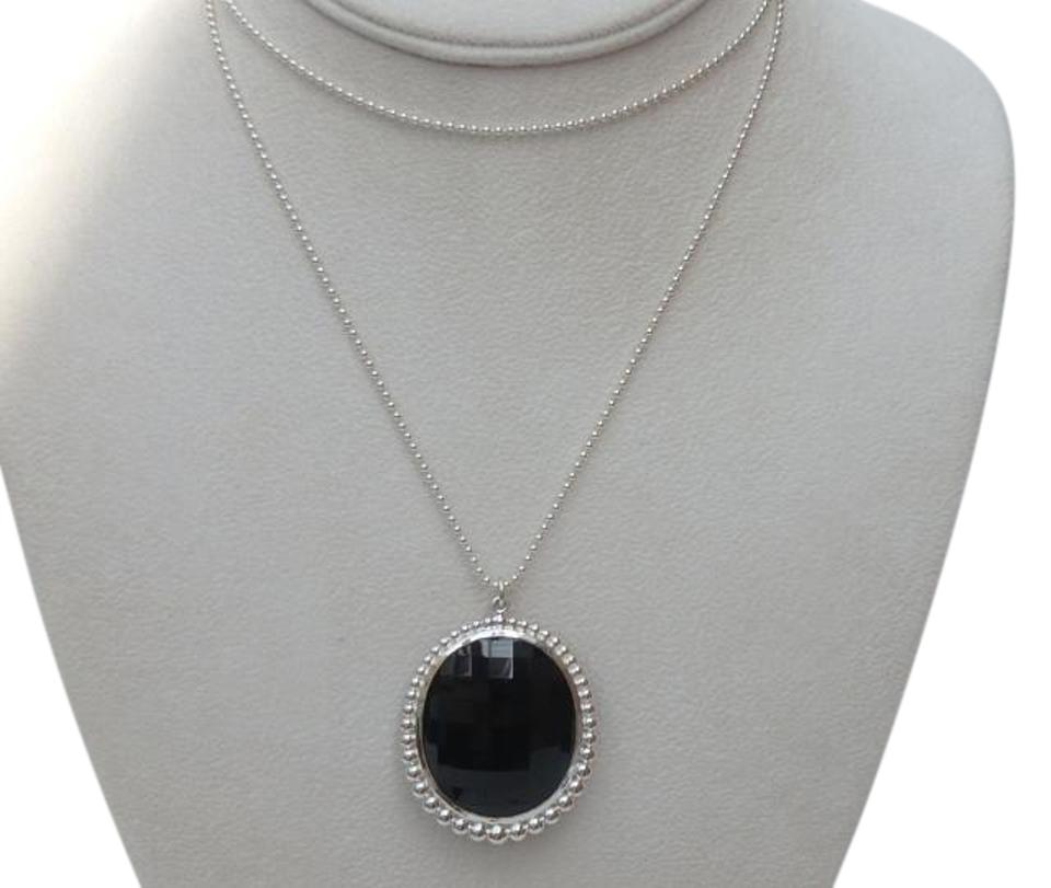 engraved crystal pendant gem with accent purple onyx necklace product oval photo black