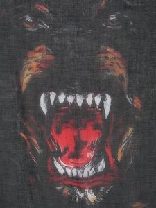 Givenchy Rottweiler Scarf Cashmere Silk Pure Luxury!