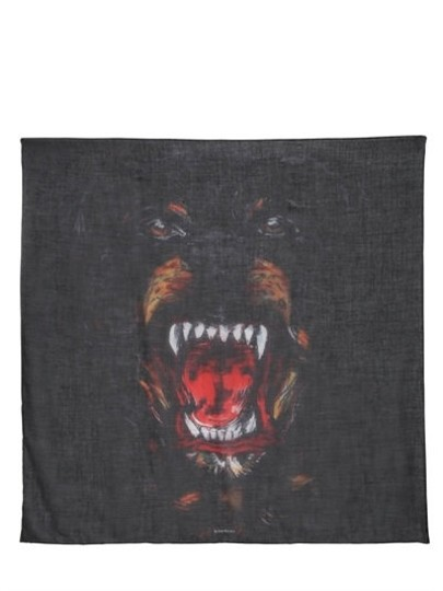Givenchy Rottweiler Scarf Cashmere Silk Pure Luxury! Image 2