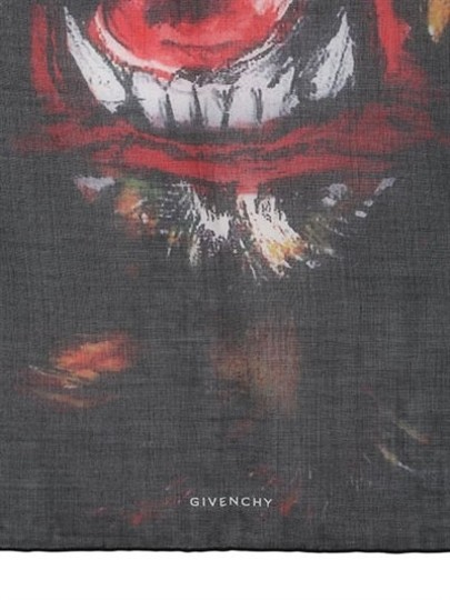 Givenchy Rottweiler Scarf Cashmere Silk Pure Luxury! Image 3