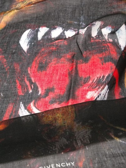 Givenchy Rottweiler Scarf Cashmere Silk Pure Luxury! Image 6