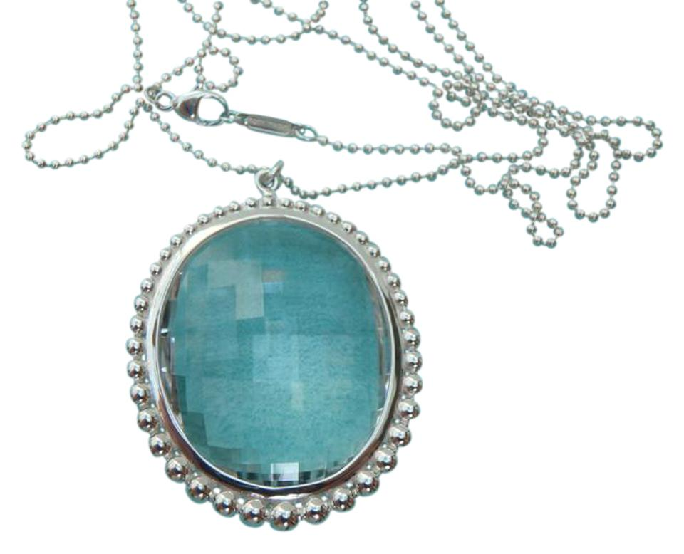 Tiffany co silver and clear rock crystal oval pendant chain 28 tiffany co rock crystal oval pendant necklace silver bead chain aloadofball Gallery