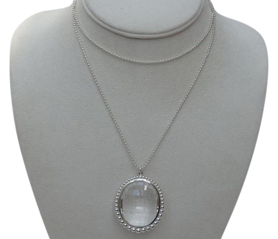 Tiffany co silver and clear rock crystal oval pendant chain 28 tiffany co silver and clear rock crystal oval pendant chain 28 necklace tradesy aloadofball Gallery