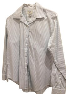 Brooks Brothers Button Down Shirt lt blue/white stripe