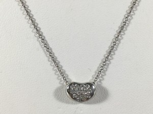 Tiffany & Co. Tiffany & Co Platinum Elsa Peretti Diamond Bean Pendant Necklace