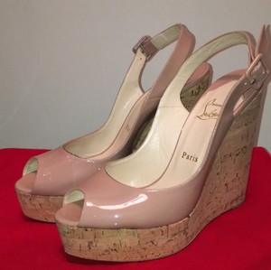 Christian Louboutin Nude Wedges