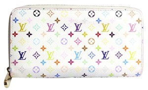 Louis Vuitton Multicolor Monogram White ZIppy Wallet