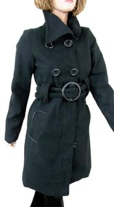 Rue 21 Double-breasted Wool Blend Belted Pea Coat