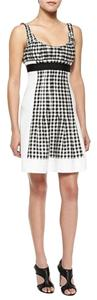 Diane von Furstenberg short dress White and black on Tradesy