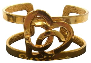 Chanel Chanel RARE Heart CC logo cuff bracelet bangle