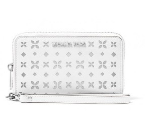 Michael Kors Jet Set Travel Large MF phone case Wallet Perforated floral NWT