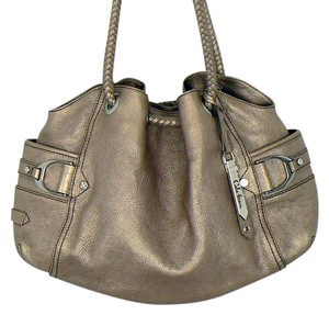 Cole Haan Brushed Nickel Hobo Bag