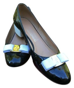 Salvatore Ferragamo Black/White Pumps