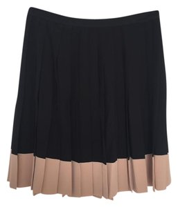 Dior Silk Mini Skirt Black and tan