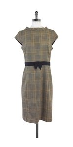 MILLY short dress Brown Plaid Belted Wool on Tradesy