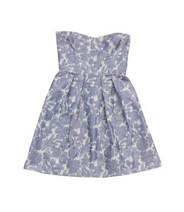 Cynthia Steffe short dress Lavender White Floral Strapless on Tradesy
