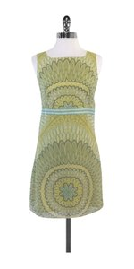 Max Mara short dress Green Blue Floral Silk Sleeveless on Tradesy