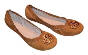 Tory Burch Caroline Leather Maple/Dark Maple Flats