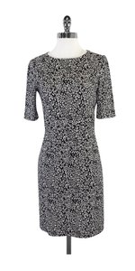 Trina Turk short dress Black White Print Midi on Tradesy