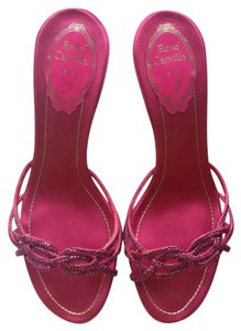 Rene Caovilla Plum red Sandals