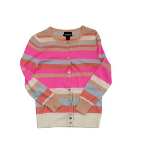 J.Crew Striped Cashmere Cardigan
