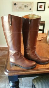 Enzo Angiolini Leather 7.5 New Brown Chestnut Boots