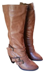 8 Buckle New Light Brown Boots
