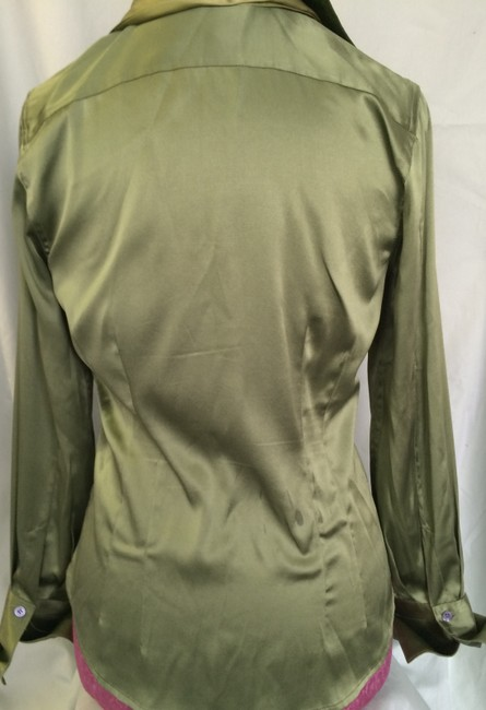 The Limited Silk Top Ivy Green