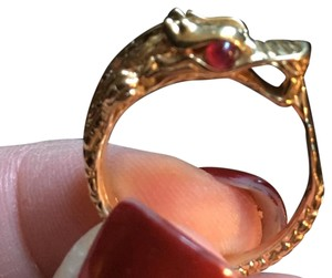 John Hardy John Hardy Naga Collection Dragon Ring 18K with Ruby Eyes